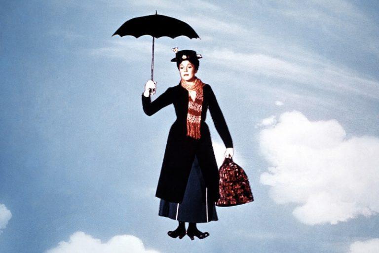 Julie Andrews y Matthew Garber en Mary Poppins