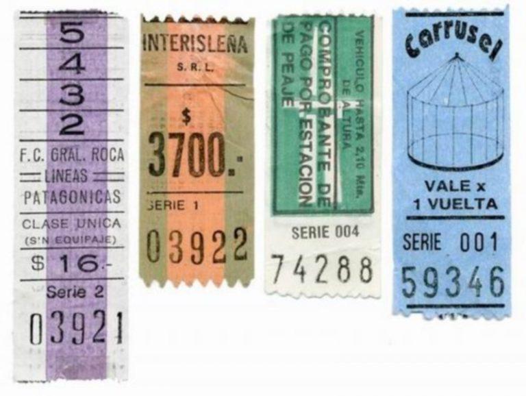 Les muestro una Colección de viejos boletos del colectivo